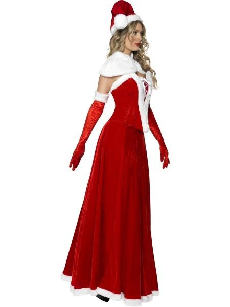 e725337fd Úvod > Karnevalové kostýmy > Vánoční kostýmy > Dámský kostým Miss Santa.  Luxusní dámský kostým Santice je složen z dlouhé sukně, korzetu, vysokých  rukavic, ...