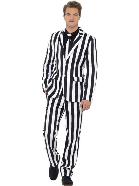 a795d3263d88 Pánský oblek - černobílé pruhy - Dárky pro muže i ženy