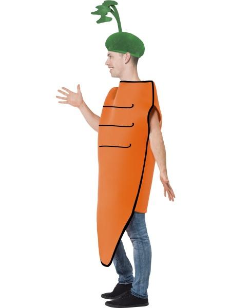 7d9aa14404a Na zeleninovou či ovocnou párty nepochybně patří i tento mrkvový kostým pro  muže i pro ženy. Kostým se skládá z velké mrkve s otvory na ruce a čepice v  ...