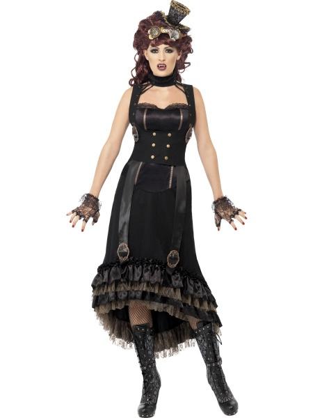 176ccb541 A teď právě pro Vás mimořádná nabídka na ples upírů. Tyto krásně zdobené  šaty s obojkem, přezkami a knoflíky zakončené volánky, jsou určené  především pro ...