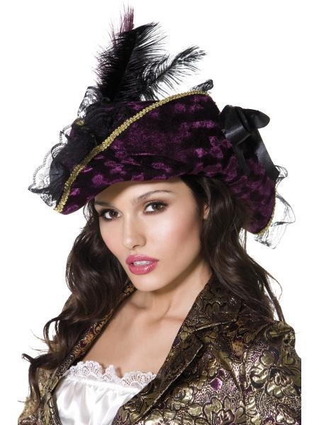 a05c802abd5 Dámský pirátský klobouk s peřím - Dárky pro muže i ženy